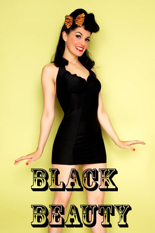From Pin-Up Girl Clothing. + SIMPLE & SEXY Do you want a basic black suit